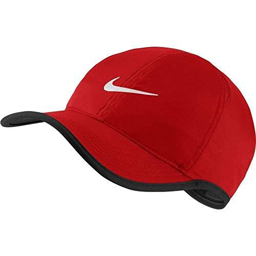 (Nike Unisex Featherlight Cap University Red/Black/University Red/White Hat One Size)