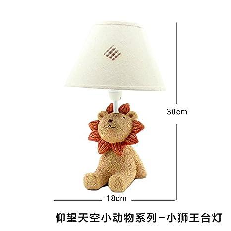 Las decoraciones caseras de pequeños animales don niñas habitación niños de la cama del contador , pequeños adornos de Luz Lámpara del Rey León: Amazon.es: ...