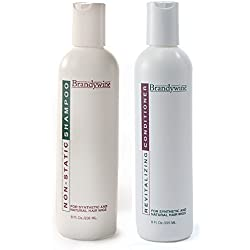 Brandywine Non Static Shampoo & Revitalizing Conditioner 8 Ounce., Value Pack Bundle 2 items