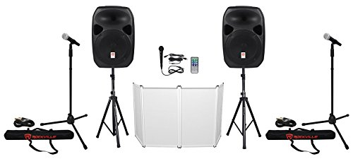 """Rockville Power GIG RPG-122K All In One DJ/PA Package  12"""" D"""