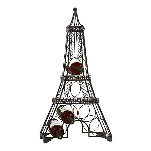 Tower Wine Rack - Eiffel Tower Wine Rack Sleek Modern Design Black Metal Freestanding Wine Storage Rack- Wine Bottle Holder