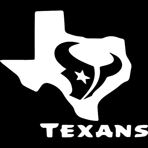 ANGDEST Houston Texans Bull Texas (White) (Set of 2) Premium Waterproof Vinyl Decal Stickers for Laptop Phone Accessory Helmet Car Window Bumper Mug Tuber Cup Door Wall Decoration
