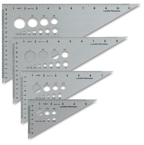Edge Triangle (Alumicolor Ludwig Precision 6-Inch 30-60-90-Degree)