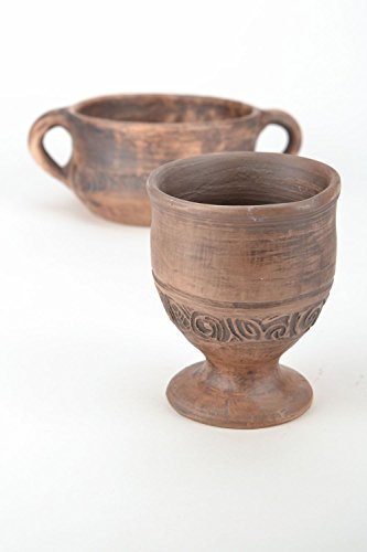 Ceramic Handmade Decorative Clay Goblet Kitchen Tools and Equipment by MadeHeart | Buy handmade goods