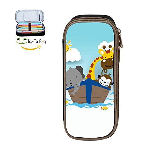 Big Capacity Canvas Mobile Phone Bag Holder for School,Print Boat Cartoon,Black