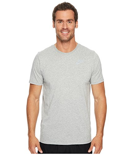 (Nike Men's Dry Swoosh Running T-Shirt (Dk Grey Heather, L))