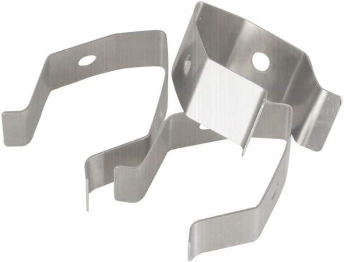 JIACUO 2pcs Set Barbeque Thermometer Probe Clip Holder Anti Rust Scald Prevenci/ón de Humo