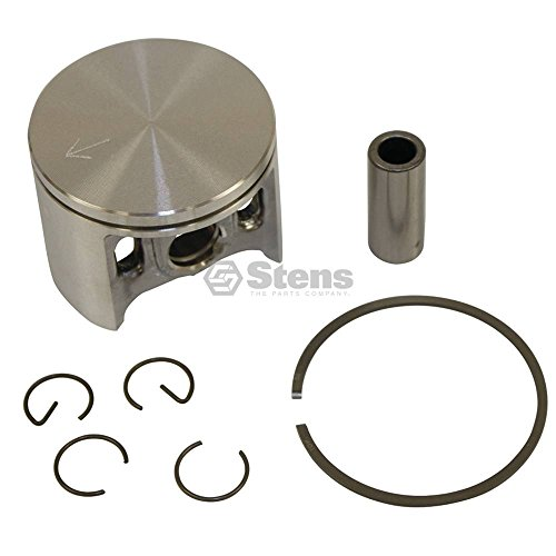 Stens Piston - Stens 632-920 Metal Piston Kit, Replaces Dolmar: 394 132 111, 394 132 112, 395 132 050, Makita: 394 132 111, 394 132 112, 395 132 050, Includes Piston, Rings, Pin and Clips, 50 mm Bore