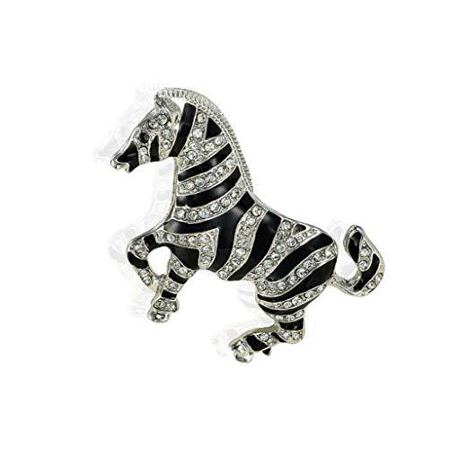 Novelty Crystal Rhinestone Brooch Pin Women Men Various Animal Jewelry Gift | Item - Zebra