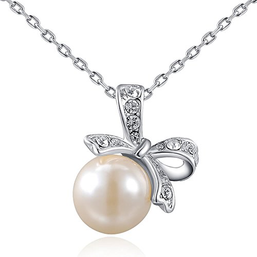 Suyi Fashion Bowknot Necklace Diamond