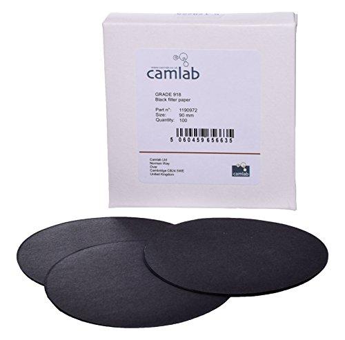 Diameter 240 mm Pack of 100 Pre-folded creped Filter Paper 113V Camlab 1188606 Grade 304P