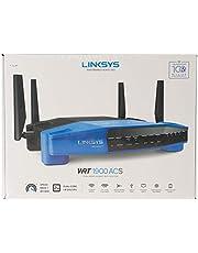 موجه لاسلكي يدعم شبكة واي فاي 5 من لينكسيس، اسود/ ازرق WRT1900ACS