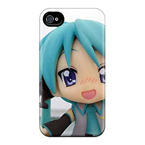 Rewens YAF657Gyep Case Cover Iphone 4/4s Protective Case Hatsune Miku Chibi Anime Sleeves_conew1 BY icecream design