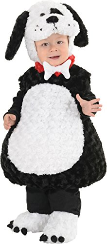 Underwraps Little Boy's Puppy Toddler Costume Large Black/White (Homemade Cool Costumes Halloween)