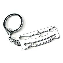 iJDMTOY (1) Chrome Finish Iconic Bumper/Kidney Grille Shape Key Chain Fob Ring Keychain For BMW 1 2 3 4 5 6 7 Series X1 X3 X4 X5 X6 Z3 Z4, etc