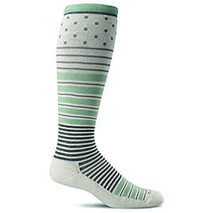 Sockwell Women's Twister Graduated Compression Socks, Natural, Medium/Large