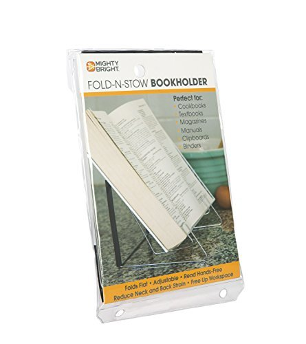 Mighty Bright 37401 Fold-n-Stow Book Holder Book Accessories Non-Classifiable Novelty
