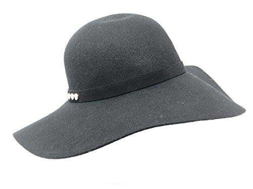 Nine West Women's Studded Floppy Hat Black