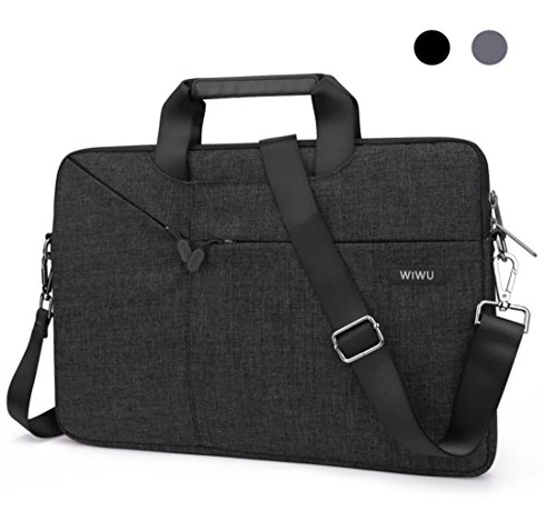"eve Bag, EKOOS Waterproof Notebook Carrying Case Netbook Shoulder Bag Briefcase Ultrabook Handbag for Macbook Air / Pro Retina, Chromebook 15, IdeaPad 15.6"" Laptop (15.6"" Black) (15.4 Inch Black Top Laptop Messenger)"