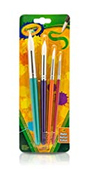 Crayola Big Paint Brushes (4 Count Round...