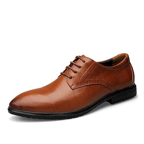 Xujw-shoes, 2018 Scarpe Stringate Basse Scarpe oxford da uomo da uomo, scarpe casual formali nuove e invisibili per interno (Color : Marrone, Dimensione : 46 EU) Marrone