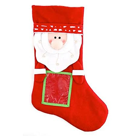 Festive Santa Christmas Stocking With Photo Frame Customised Amazon