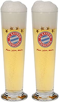 FC Bayern M/ünchen Fanglas 2er Set