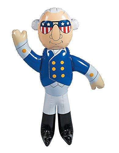 5 Foot Inflatable George Washington - Blow-Up 4th of July Outdoor Yard Decorations