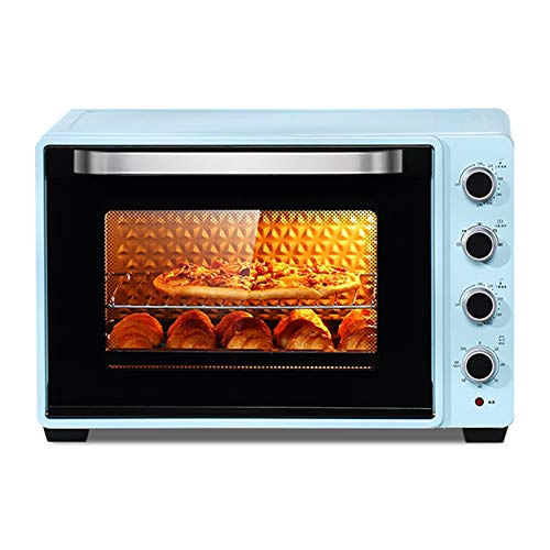 QYJH - Large Commercial Countertop Oven - 75L Large Capacity - 2200W - Precision Temperature Control - Toast, barbecue - including grilled nets, forks and baking pans (Difference Between Air Fryer And Convection Oven)