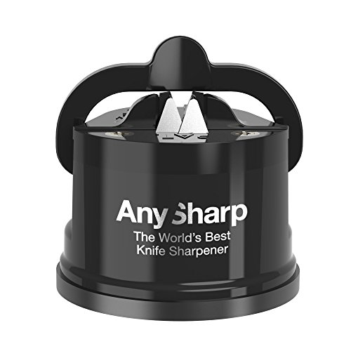 AnySharp Global Knife Sharpener with PowerGrip, Black
