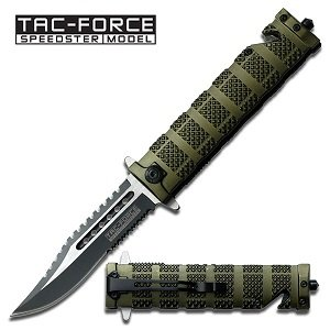 Tac Force TF-710GN Assisted Opening Folding Knife 5-Inch Closed, Outdoor Stuffs