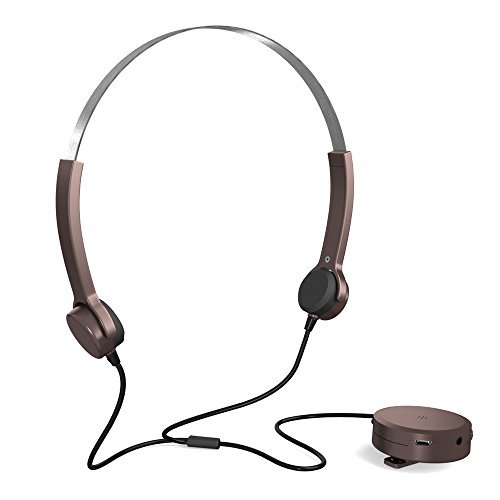 Docooler Bone Conduction Headsets Hearing Aids Headphones Audiphone Sound Pick-up AUX IN Brown for Hearing Difficulties Brown