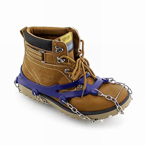 Catena Inossidabile Grips Blue Slip Acciaio Shoe Ice Cleats Medium Cleats Neve Outdoor Crampon Spikes tooth Boot Orange Joyfan Ten Anti Traction Rw7T6Tq