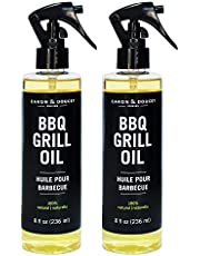 Caron & Doucet - BBQ Grill Cleaner Oil   100% Plant-Based & Vegan   Best for Cleaning Barbeque Grills & Grates   Use with Wooden Scrapers, Brushes, Accessories & Tools   Great Gift for Dad!