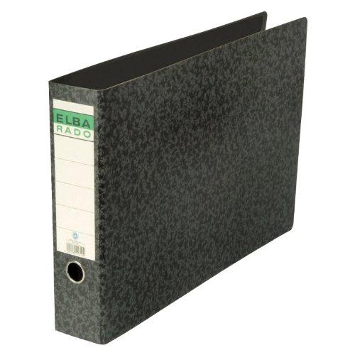 Elba 100202079 Ordner rado (A3 quer, Rückenbreite 8 cm, aufgeklebtem Rückenschild), schwarz