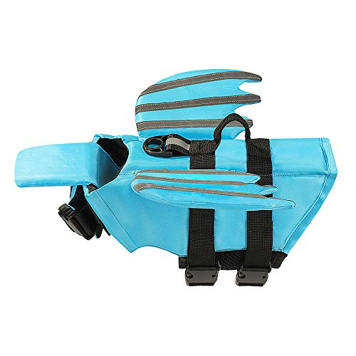 Xnbor Dog Life Jacket, Luminous Angel Wings Pet Dog Floatation Life Vest Jacket for Small, Middle, Large Size Dogs, Dog Lifesaver Preserver Swimsuit for Water Safety at The Pool, Beach, Boating