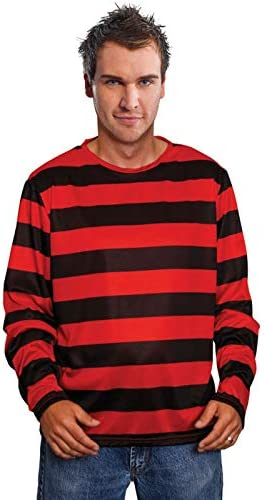 Magic Box Top Estilo Freddy Krueger de Rayas Rojas para Hombre ...