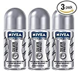 Nivea for Men Silver Protect Deodorant Roll-on 50 ml (3Pcs Per Pack) - Best Selling by Nivea