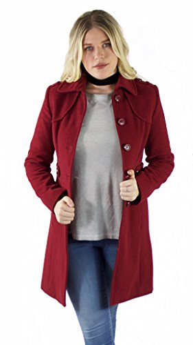 - Kenneth Cole New York Military Walker Coat, Red, US 6