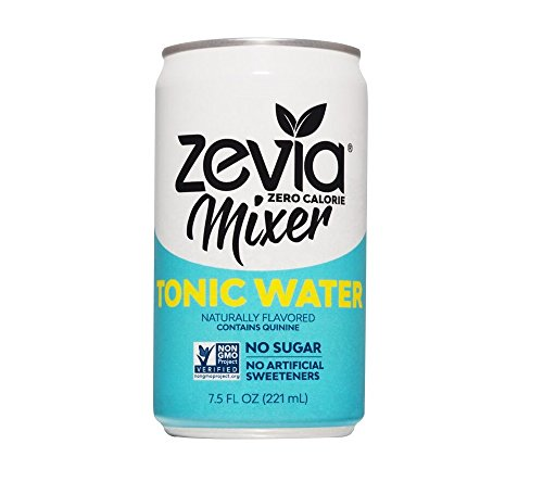 - Zevia Tonic Water, 7.5 Ounce Can (12 Count) Zero Calories, Zero Sugar Take on the Traditional Carbonated Tonic Water, A Perfect Drink Mixer