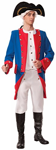 [Forum Novelties Men's Patriotic Party Deluxe Colonial General Costume, Multi, One Size] (Colonial Patriot Costumes)