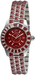 Christian Dior Women's CD11211DM001 Christal Diamond Red Dial Watch