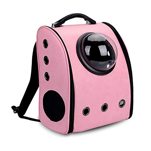 (The Capsule Bag Carrying Pet Pet Packaging Bag Dasyure Pet Dog Pet Travel Dog Carrier Cat Breathable Backpack Outdoor Portable,Pink,37X32Cm)