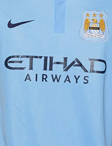 Nike 201516 Manchester City Fc Stadium Home Maillot manches courtes Homme