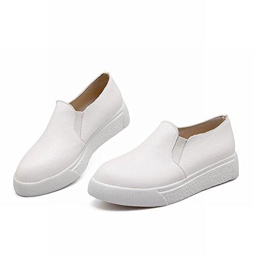 Latasa Damesmode Platform Instapper Loafers Schoenen, Comfort Schoenen Wit