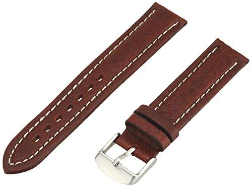 Hadley-Roma Men's MSM886RB-180 18-mm Brown Genuine Shrunken Leather Watch - Collection Watch Mens Dress