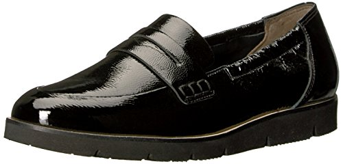 Black Crinkled Patent Leather (Paul Green Women's Nico Lfr Loafer Flat, Black Crinkled Patent, 8.5 Medium US)