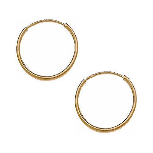 So Chic Jewels - 9k Yellow Gold - 20 mm Creole Hoop Earrings by So Chic Jewels