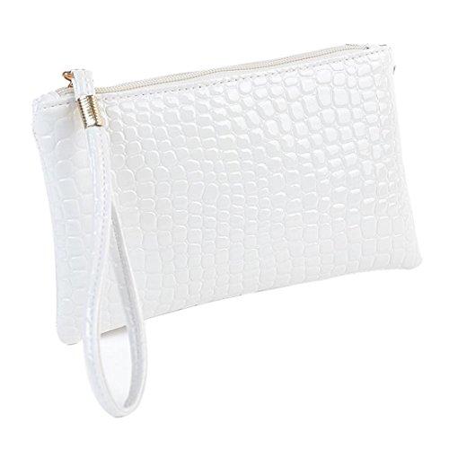 Price comparison product image DDLBiz(TM) Beat Gift Women Crocodile Leather Clutch Handbag Bag Coin Purse (White)