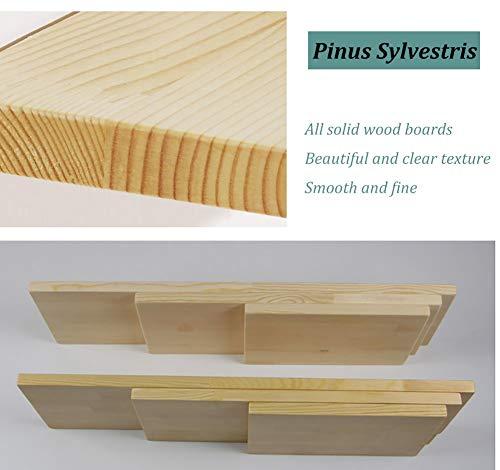 Väggfällt kök & matbord med träfäste, väggmonterad arbetsbänk droppblad bord utrymmesbesparare, max belastning 60 kg (storlek: 90 x 50 cm)
